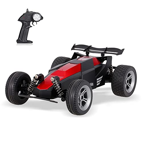 POBO RC Car 2.4Ghz Remote Control Racing Truck 1:24 Scale Waterproof High Speed Drifting Off-Road Vehicle RTF Model Toy 003 (Red)