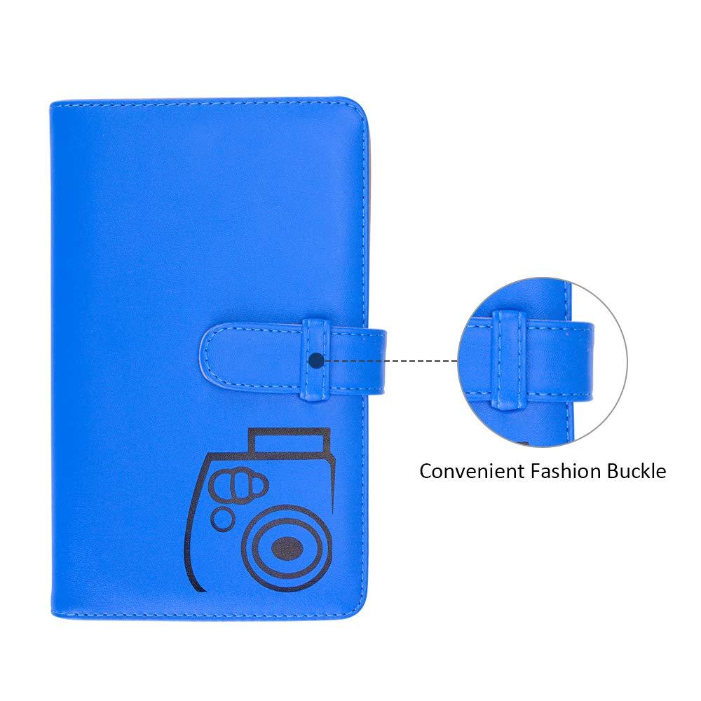 25 26 50s 7s 70 90 Fotocamera istantanea e targhetta Boogooa 108 Tasche Mini Album Fotografico per Fujifilm Instax Mini 9 8 8 Blu Cobalto