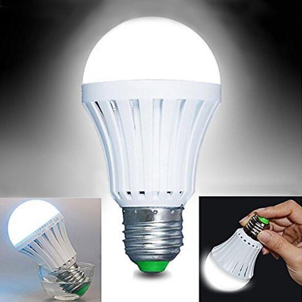 9W batería de emergencia LED bombilla E27ahorro de energía bombilla iluminación para interior y exterior para Patio garaje taller