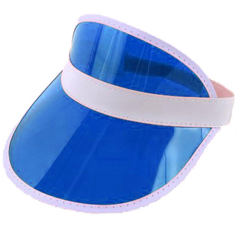 Sofias Closet Mü tzenschirm im 80er-Jahre-Stil zum Golfen, Pokern und als Sonnenschutz Gr. Einheitsgrö ß e, blau