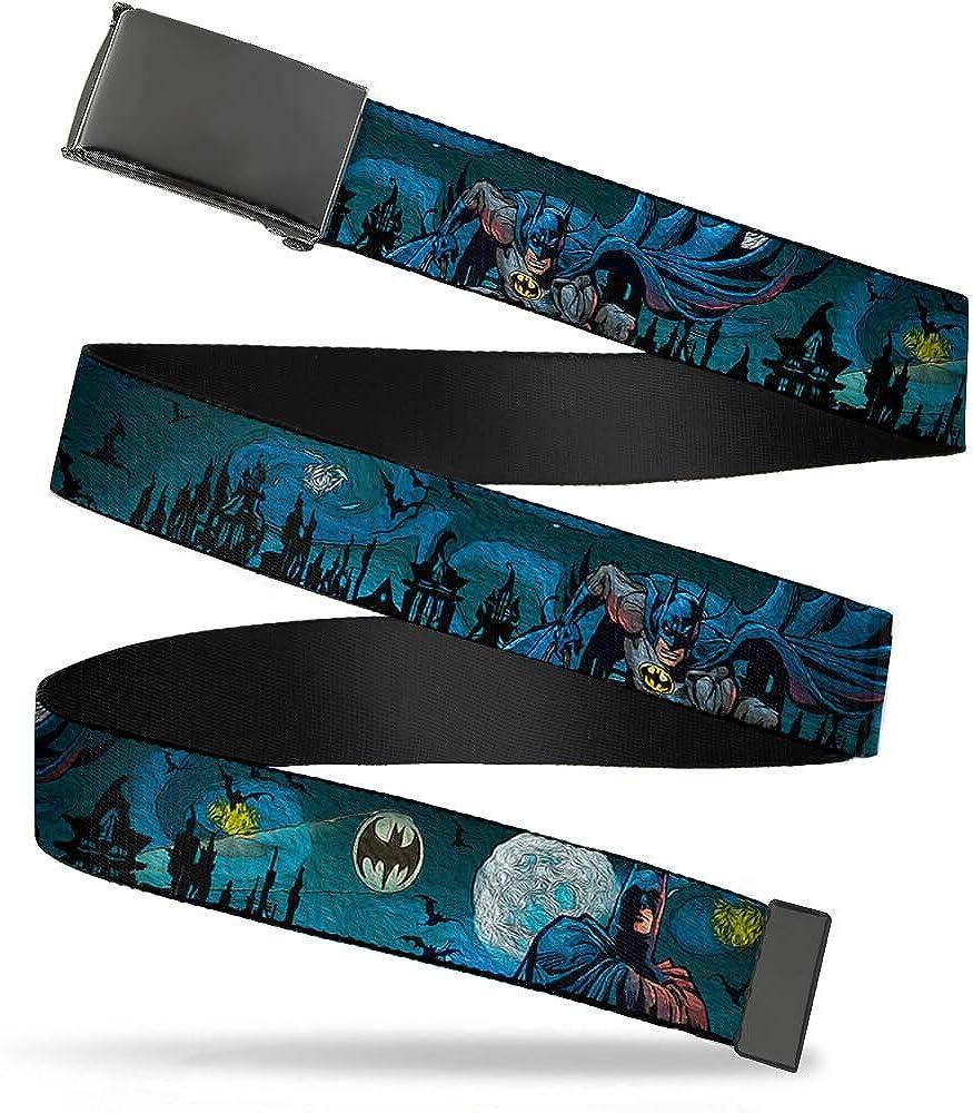 Buckle Down Mens Web Belt-Batman Gothic Knights Poses