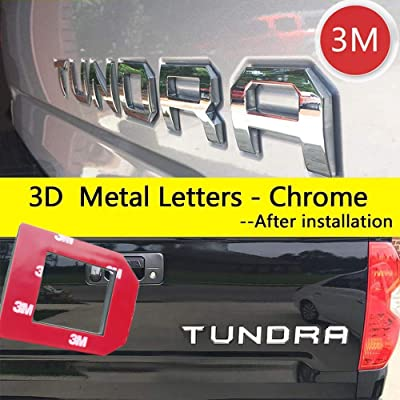 Super Repairman for Toyota Tundra 2014-2020 Special 3D Zinc Alloy Tailgate Insert Letters - Chrome (Not Decal Sticker): Automotive
