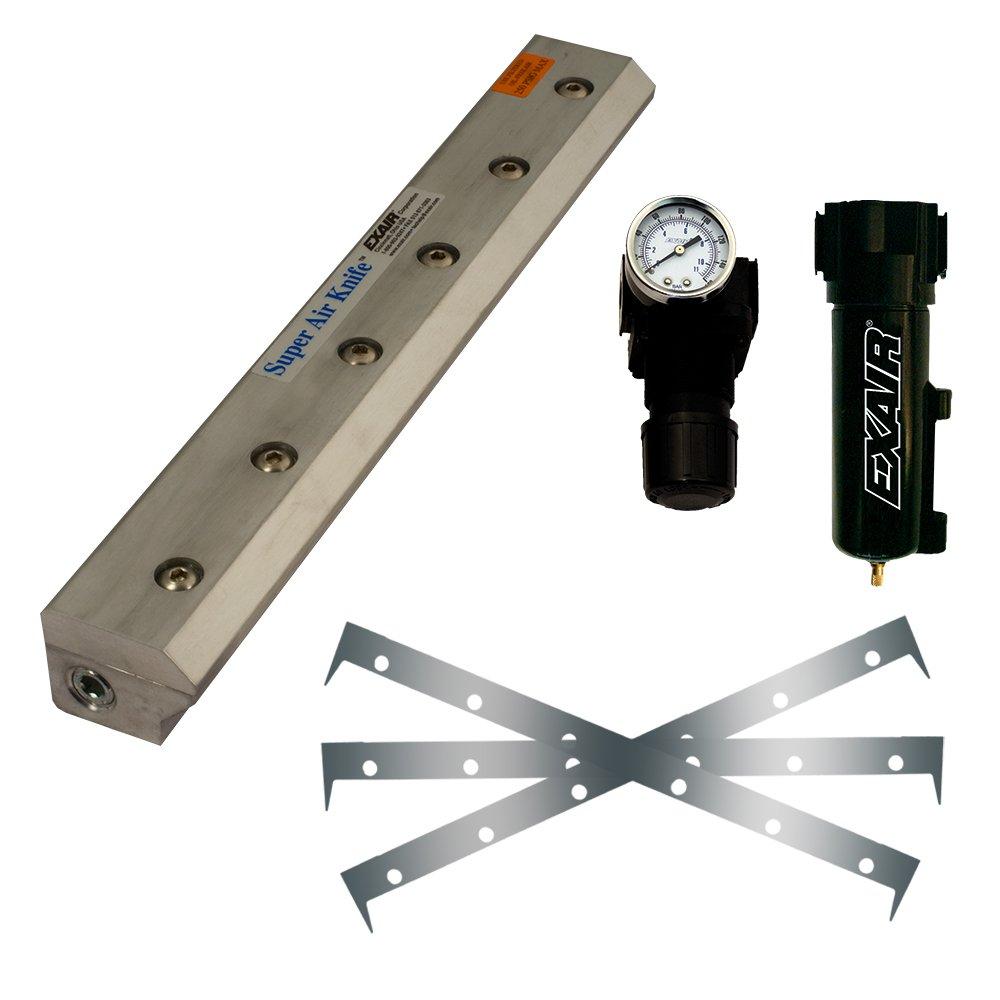 EXAIR 110296SS-316 Super Air Knife Kit, 316 Stainless Steel, 1.03'' H x 96'' L x 1.44'' W