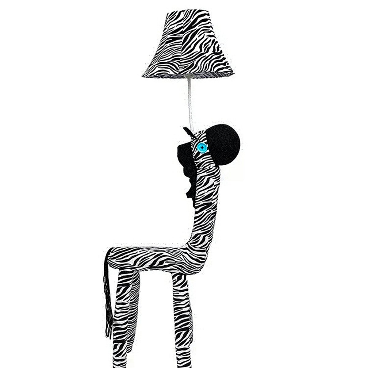 Coolfire Kids Handmade Decorative Floor Lamp Bedside Table Lamp Night Light for Bedroom Living Room Playroom (Floor Lamp, Zebra)