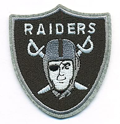 Oakland Raiders Logo Football NFL Embroidered Iron On Patch Hat Jersey