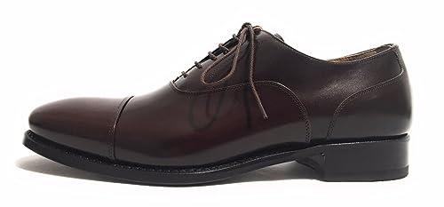 Harris Zapatos de Cordones de Piel Para Hombre Marrón Marrone Moro 9UK sth0Yq