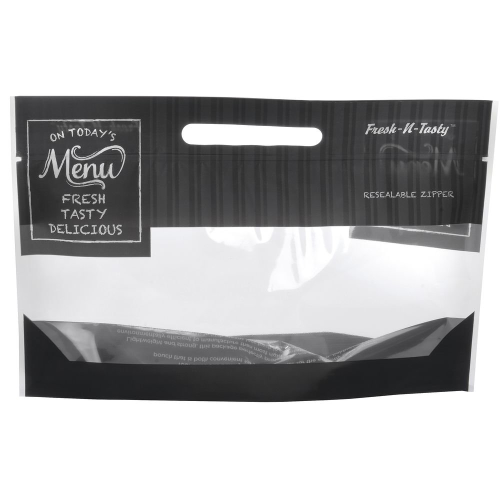 12'' x 7'' x 41'' Flexible Bakery Bag, Large, ''Today's Menu'' (250/Pack) - HUB-67715