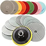New 10pcs 4 Inch 50 to 6000 Grit Diamond Polishing Pads for...