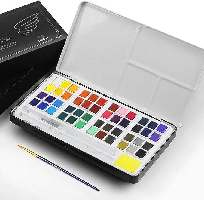 Lankerx Caja de Acuarela Set de Pintura de Acuarelas Sólida ...
