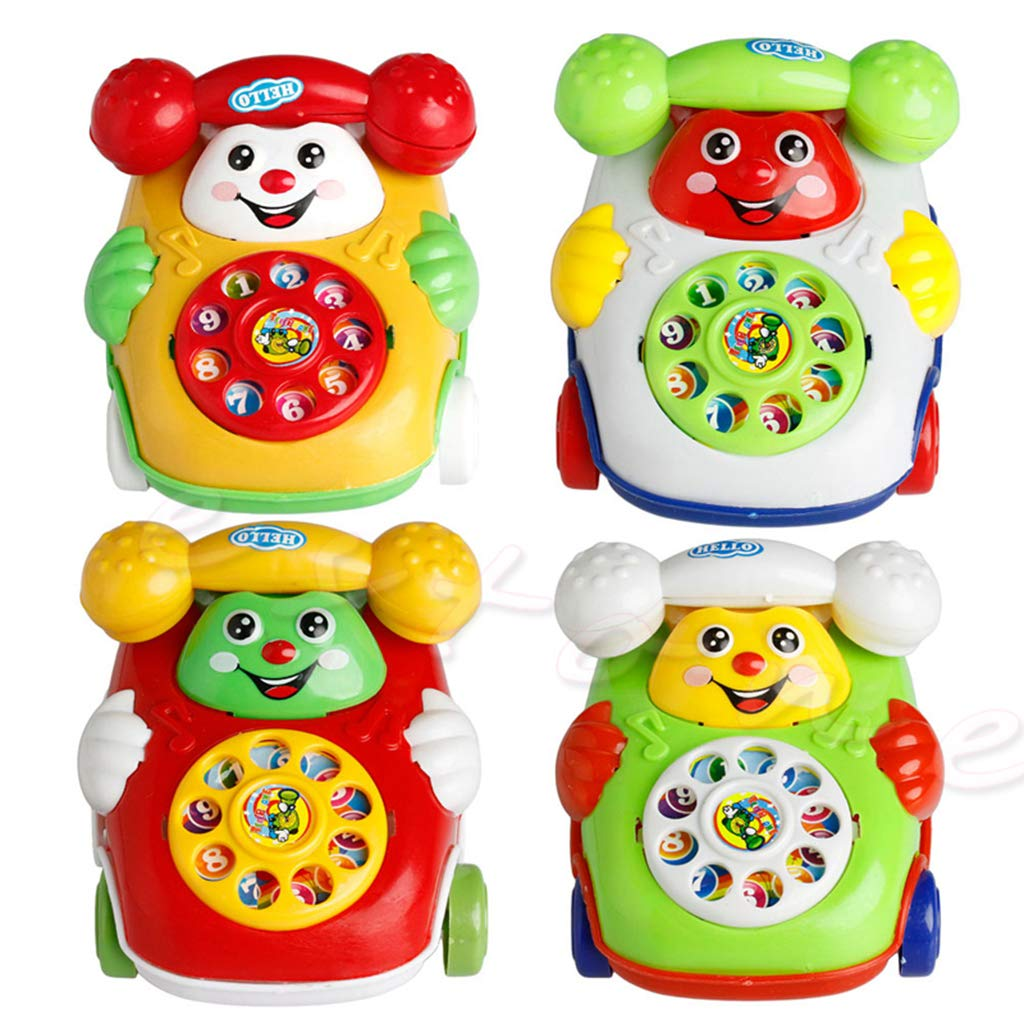 Haven shop Baby Phone Telephone Toy Baby Toys Music Cartoon Phone Mobile Educational Developmental Kids Gifts Toy