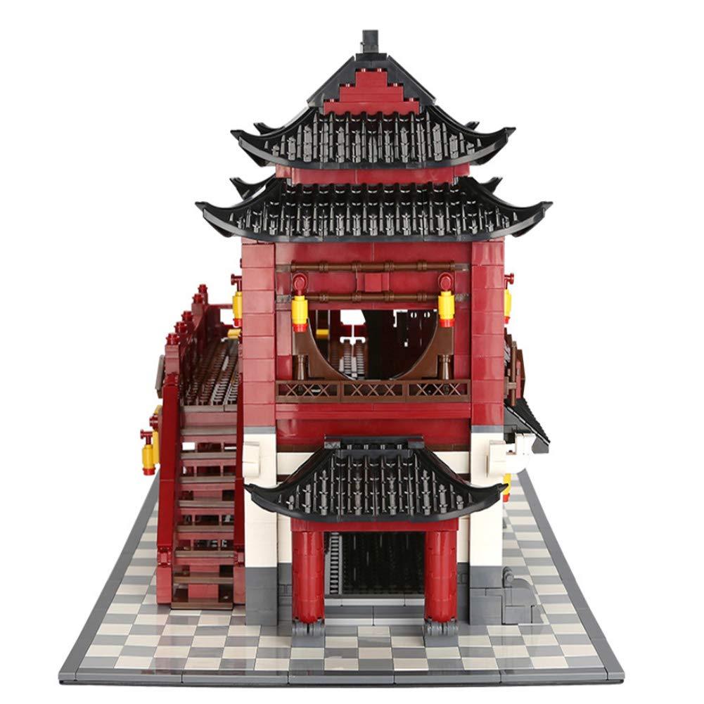Yyz World Architecture Series Architecture Classique Zhonghua Building Upstairs DIY Puzzle pour Enfants Blocs de Construction Jouets