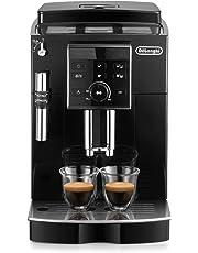 De'Longhi ECAM 25.120.B Kaffeevollautomat | Direktwahltasten und Drehregler | Profi-Aufschäumdüse | 2-Tassen-Funktion | Kegelmahlwerk 13 Stufen | Herausnehmbare Brühgruppe | schwarz
