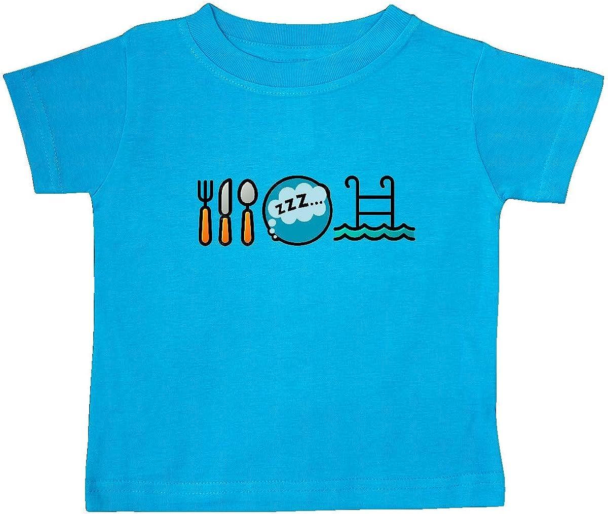 inktastic Swimming Eat Sleep Swim Baby T-Shirt