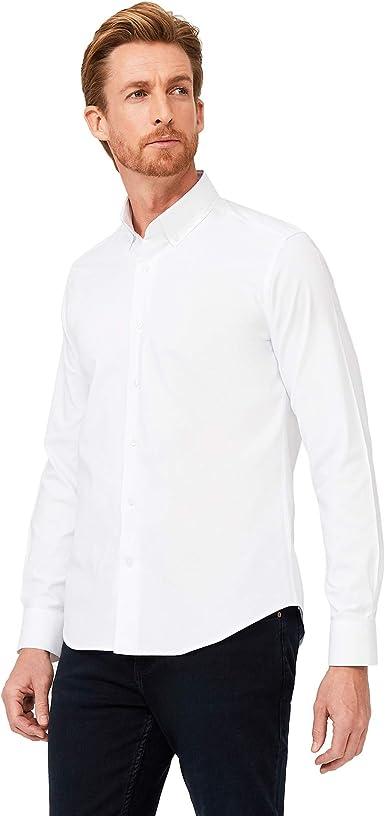 Kigili - Camisa de manga larga para hombre, 100% algodón, fácil de planchar, fabricada en Turquía