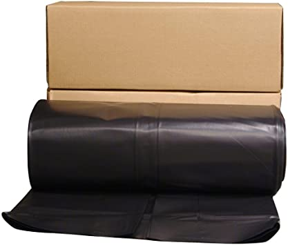 24 Ft X 100 Ft Black 6 Mil Plastic Sheeting Amazon Com