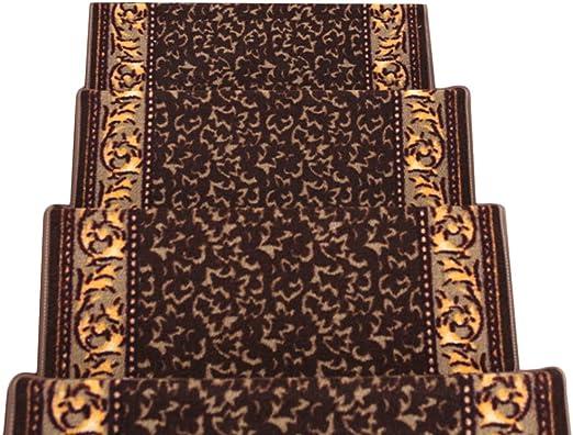 JIAJUAN Alfombra De Escalera Espesar Antideslizante Caucho Soporte Alfombras Escaleras Esteras 4 Estilos, 3 Tallas, Personalizable (Color : D-5 pcs, Tamaño : 80x24x3cm): Amazon.es: Hogar