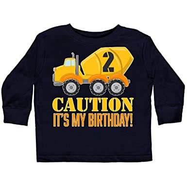 d49734937 inktastic - 2nd Birthday Construction Toddler Long Sleeve T-Shirt 2T Black  2c77c