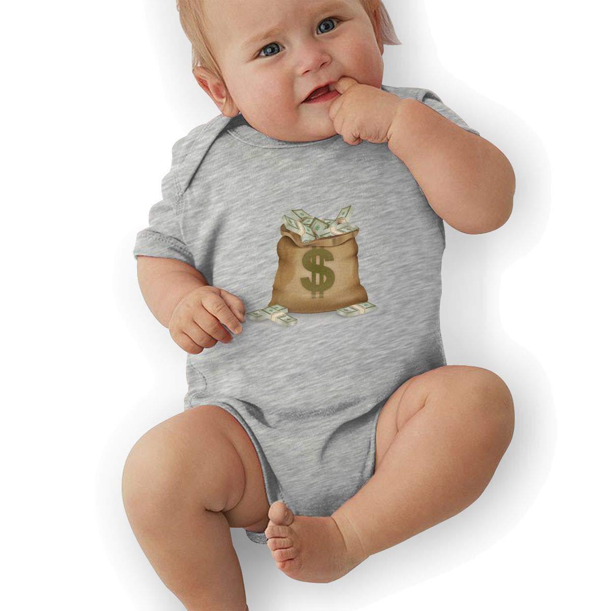 biernsege Newborn Baby Boys Bodysuit Short-Sleeve Onesie A Bag of Dollars Print Outfit Winter Pajamas