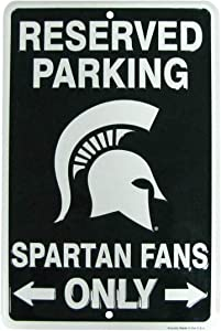 TG,LLC Treasure Gurus Michigan State Fan Parking Only Metal Sign Spartans Man Cave Garage Wall Home Decor