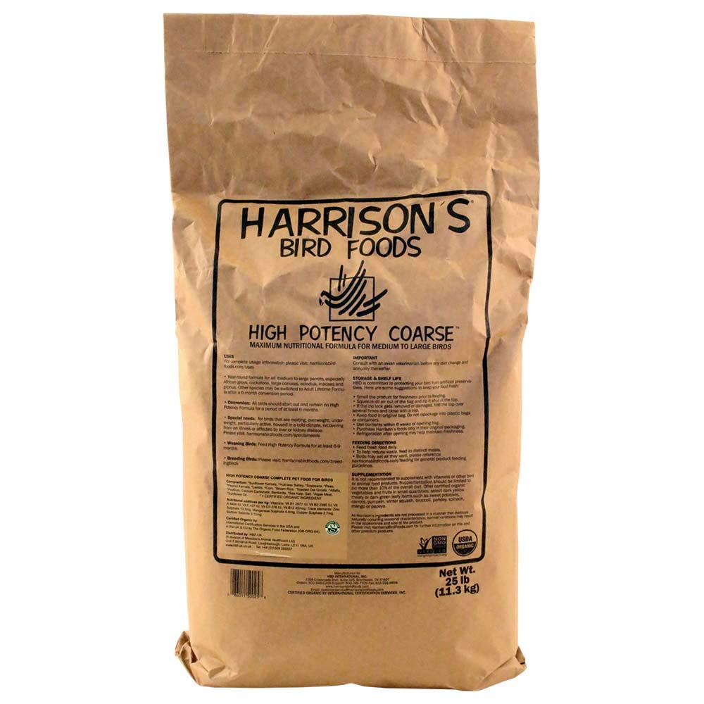 Harrison's Bird Foods High Potency Coarse 25lb