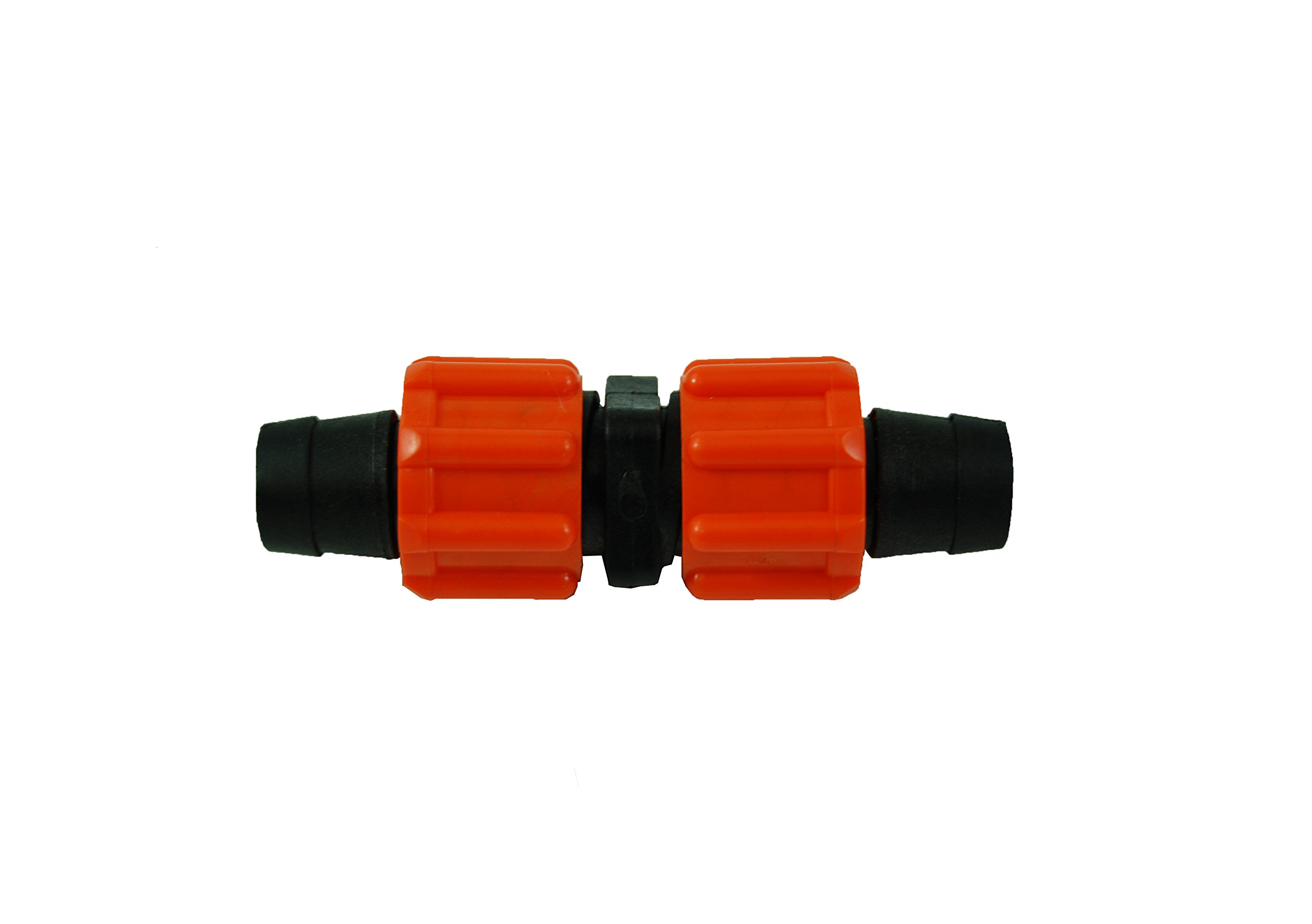 5/8'' Drip Tape Loc Coupling - Fittings - Irrigation - Orange Swivel - Gardening - QTY 50 by Growers Solution