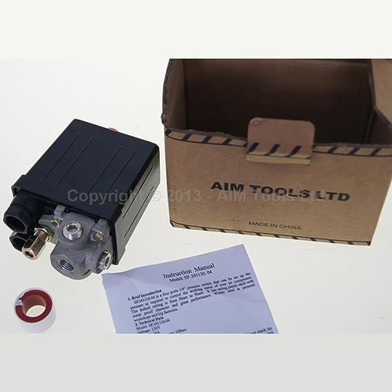 3 Anschlüsse Drucklufterzeuger Druck Kontrolle Knopf Einzelne Phase 1 4 Zoll Bsp Verkäufer Aus Uk Auto