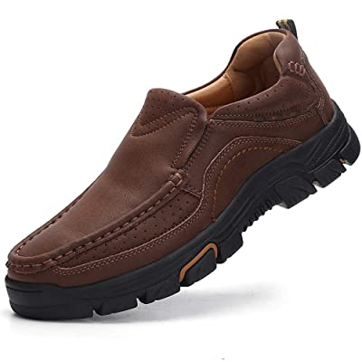 VENSHINE Mens Loafers Slip On Casual Leather Walking Dress Shoes   Loafers & Slip-Ons