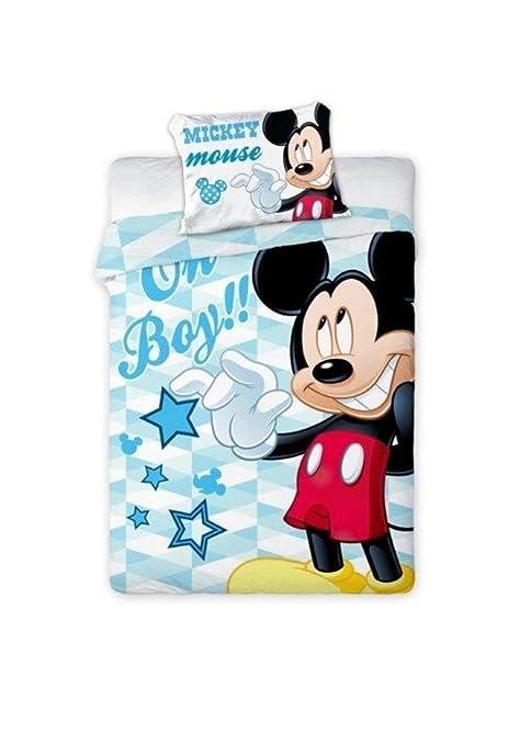 Disney Micky Maus Baby Wende Bettwäsche 100x135cm 100 Baumwolle