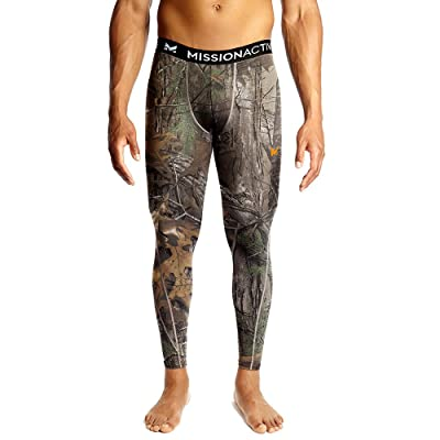 Amazon.com : Mission Men's VaporActive Base Layer Tights, Real Tree, Large : Clothing