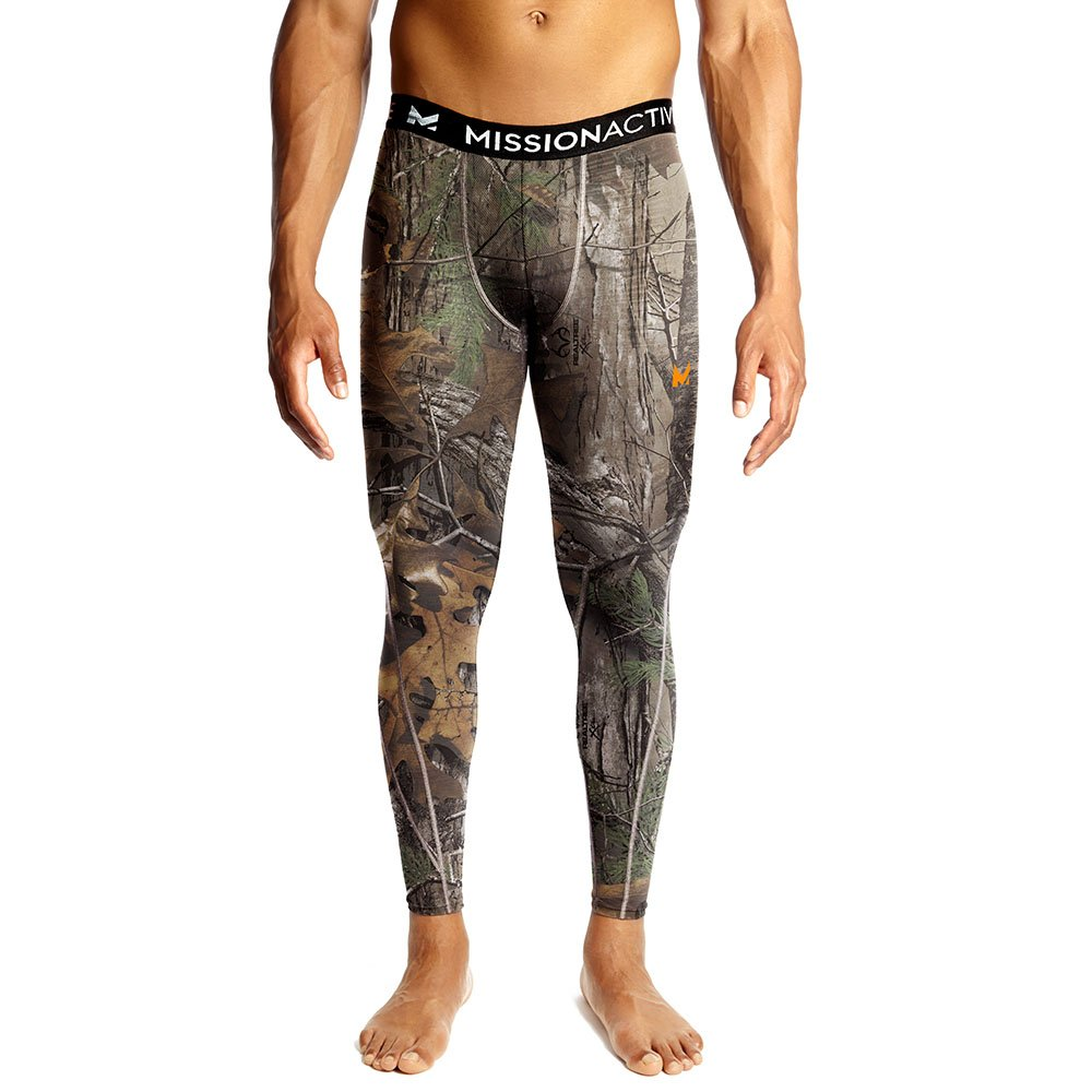 Mission Men's VaporActive Base Layer Tights, Real Tree, Large