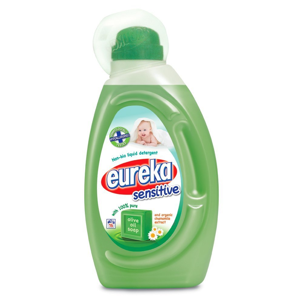 Eureka Sensitive Non Bio Liquid Detergent with Olive Oil Soap and Organic Chamomile, 1 Litre, Pack of 2 Eureka S.A. 002600EXP2