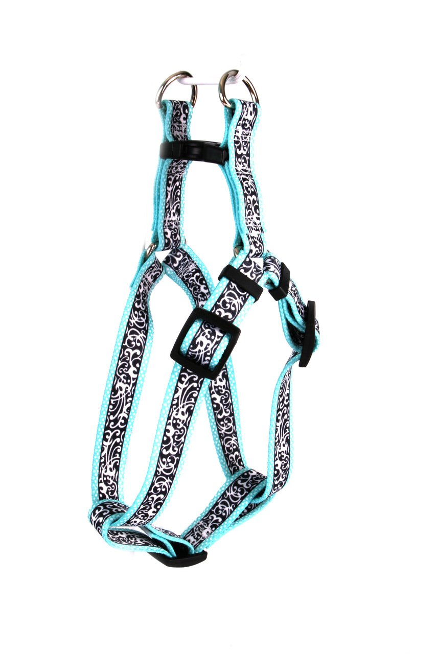 Yellow Dog Design Chantilly Teal Step-in Dog Harness, Medium by Yellow Dog Design
