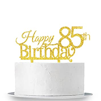 Image Unavailable Not Available For Color Happy 85th Birthday Cake Topper