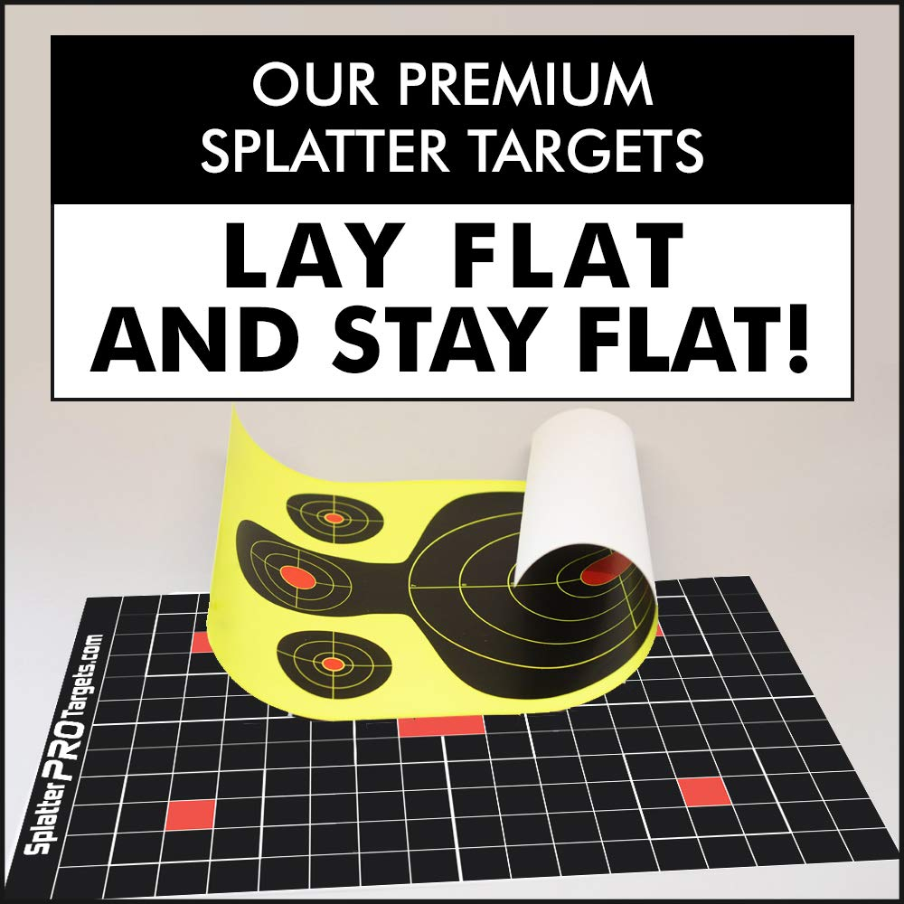 Instantly See Your Shots. 1 Shots Burst with Bright White Halo Upon Impact 12x18 Made in Canada Splatter Targets 25 Pak