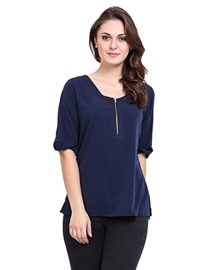 a14fe3c1ba0c04 REDFOOT AORFEO Girls Women Casual Party Wear Navy Blue Top (Sizes S, M, L,  XL, XXL, XXXL, XXXXL): Buy Online at Low Prices in India - Amazon.in