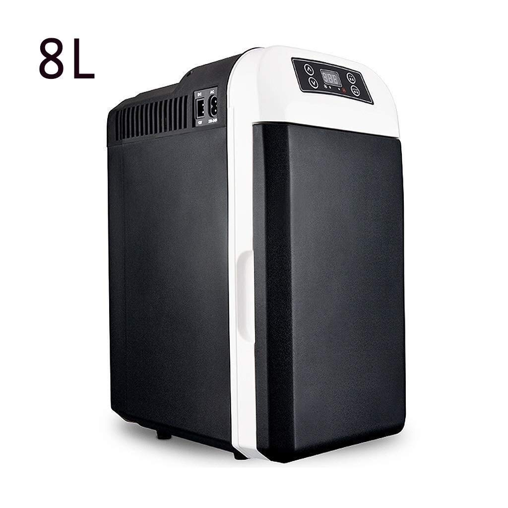 JGWJJ Mini Fridge Electric Cooler and Warmer (8 Liter): AC/DC Portable Thermoelectric System W/Exclusive On The Go USB Power Bank (Color : Black) by JGWJJ