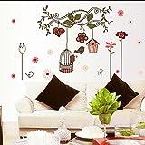 "Wall Sticker, DDLBiz® Adesivi Murales, Carta da Pareti "" Birdcage"" Decorazione Murali da Parete"