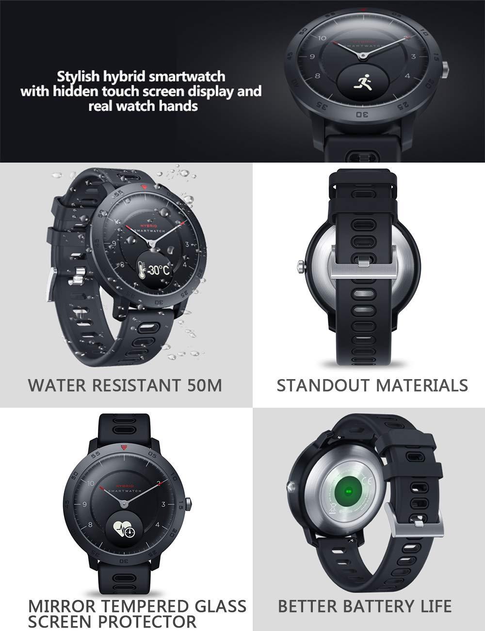 Zeblaze Hybrid Smartwatch 5ATM Reloj Deportivo a Prueba de ...