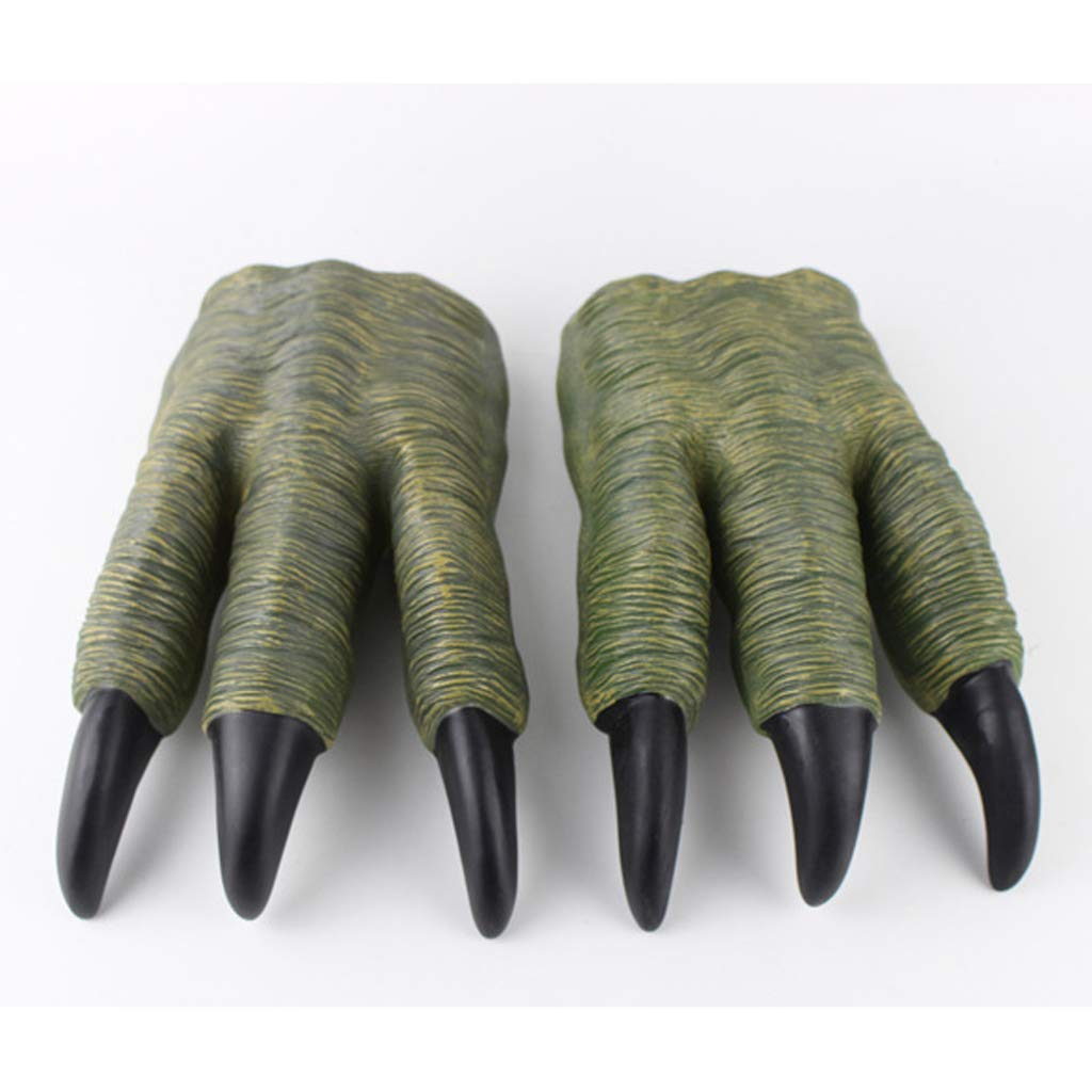 F Fityle Dinosaur Claw Gloves Toy Hands Halloween Party Cosplay Kids Trick Prop Gifts