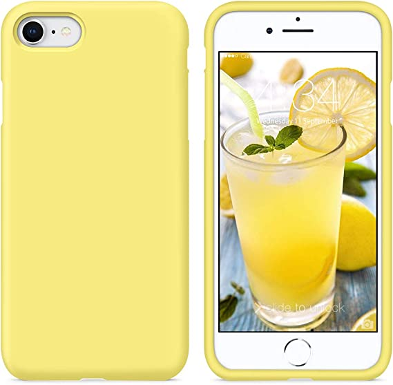 Amazon Com Surphy Silicone Case Compatible With Iphone Se 2020 Case Iphone 8 Case Iphone 7 Case Liquid Silicone Phone Case With Microfiber Lining For Iphone 7 Iphone 8 Iphone Se 2nd 4 7 Yellow