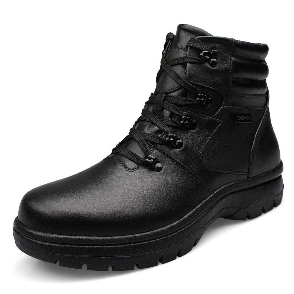 [HONGJING] ショートブーツ メンズ 27.5ー32.0cm  黒 ハイカットシューズ マーティンブーツ レースアップ ウォーキング アウトドア カジュアル 冬 裏ボア 出張 旅行 イギリス風 オシャレ 耐久性 滑りにくい 歩きやすい ブラック B01LX4QYRJ 29.0 cm ブラック ブラック 29.0 cm