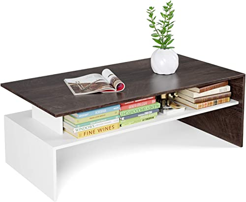 HOMFA Modern Console Table Coffee Table 2-Tier