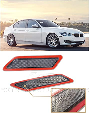 Crystal Clear Front Bumper Fender Reflector Side Marker Lights Turn Signal Lamps Replacement for 2012-2015 BMW F30 F31 3-Series Base Bumper Model