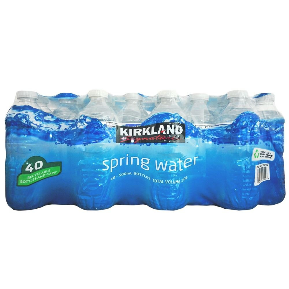 Kirkland Signature Spring Water 500ml, 40 Bottles: Amazon.co.uk: Grocery