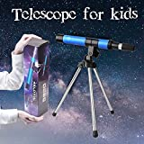 Telescope for Kids Educational Science-30mm Apeture 300mm AZ Refractor Scope-Portable Small Telescope with Tripod