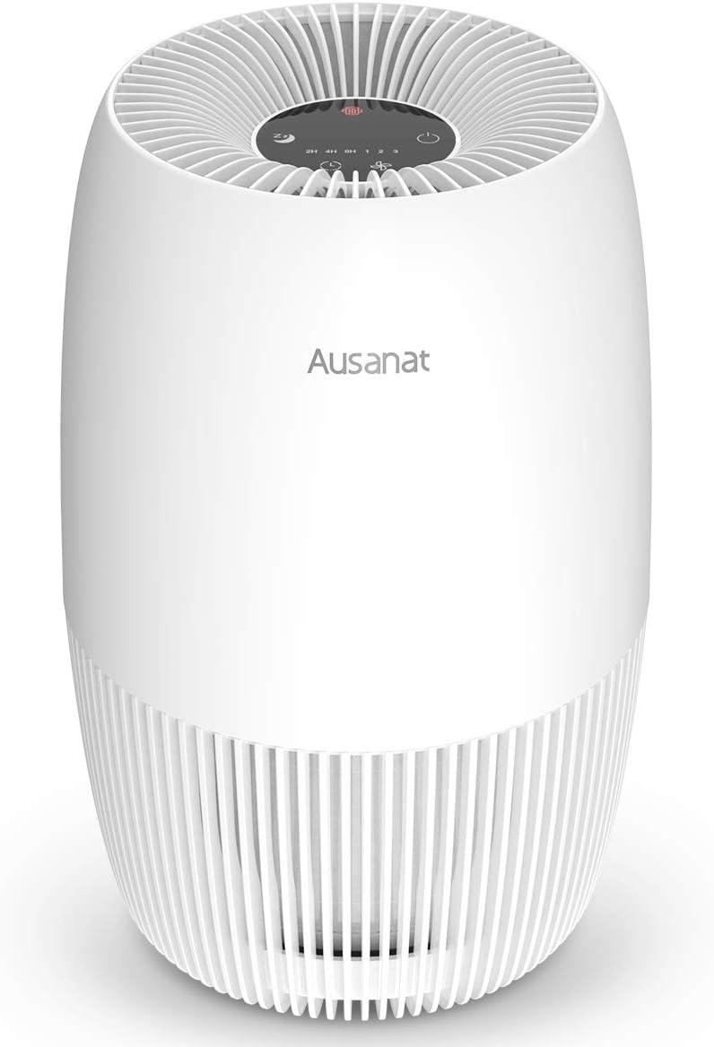 Purificador de aire HEPA Para el Hogar, AUSANAT Purificador de aire con Filtro combinado HEPA y Filtro de Carbón Activado, Purificador de aire Perfecto Contra los Alérgicos, Polvo, Polen