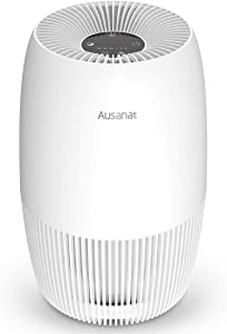 Air Purifier for Home and Bedroom, Ausanat True HEPA Air purifiers for Pets Smoker in Room or Office, Quiet Air Purifiers with Activated Carbon for 99.97% Odor Pet Dander Hair, 25dB Large Air Intake