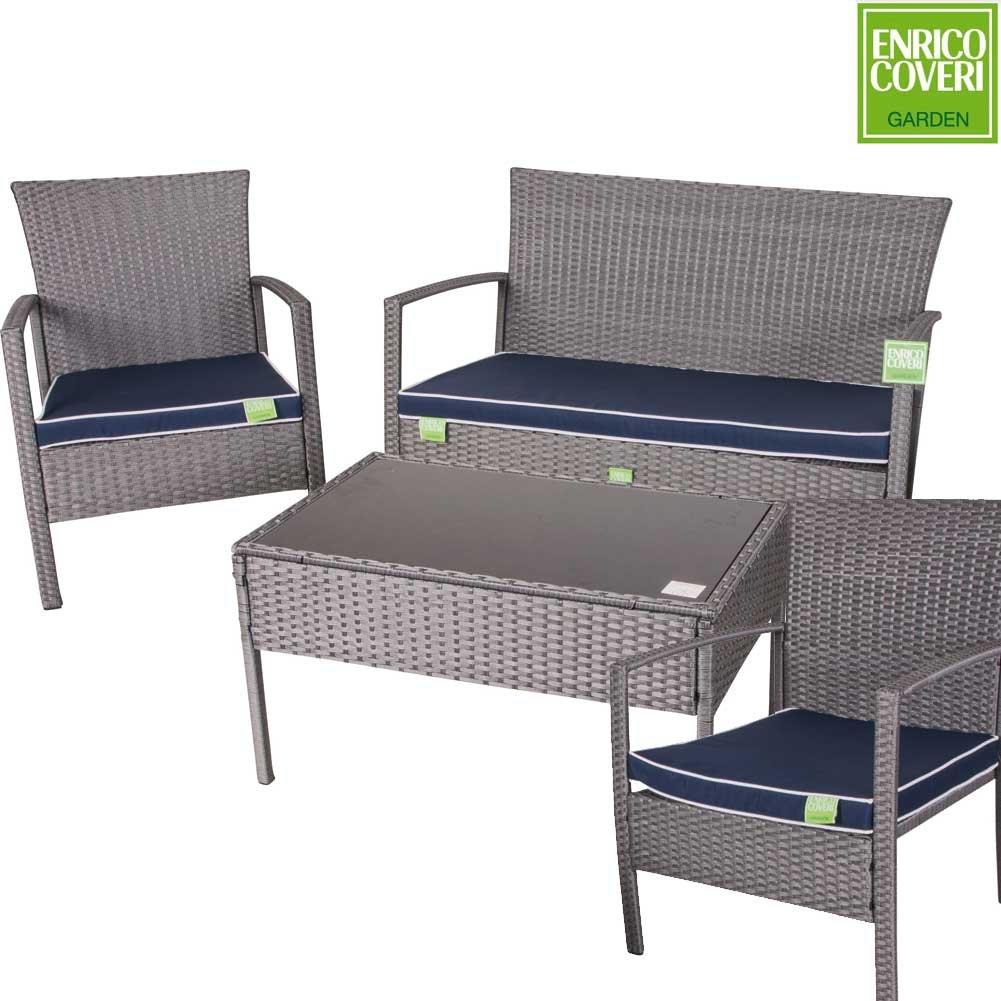 Enrico Coveri - Juego completo de muebles de jardín con ...