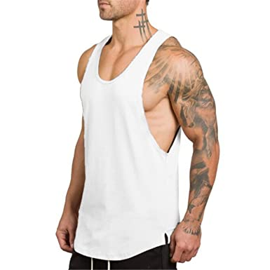 7843a789bd Herren Tops Shirts Männer Fitness Tank Top Singlet Bodybuilding Stringer  Ärmelloses Shirt