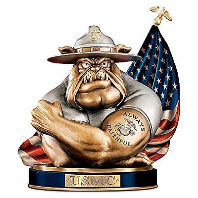 To Save And Protect Cold-Cast Bronze USMC Devil Bulldog Bank The Bradford Exchange